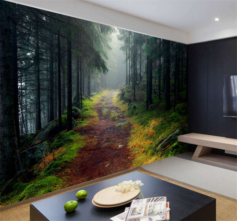 norwegian forest nature full wall mural photo wallpaper wallpaper cartoon picture more detailed picture about