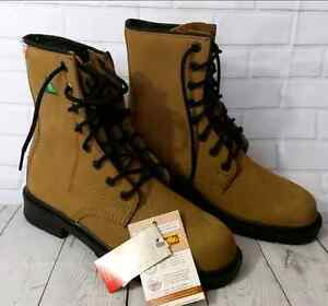 New Dynamic Steel Toed Work Boots Mens 7 Wide Womens 8.5 Wide