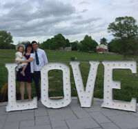 Rent Giant L O V E Marquee Love Letters for your wedding!