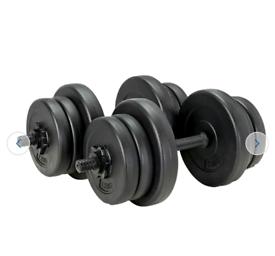 20kg Opti Vinyl Dumbbell Set - Brand New Weights