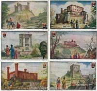 Figurine Lavazza serie n°5 La Leggenda di Tristano e Isotta ANNO 1949 Chromo