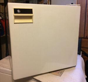 GE white mini fridge