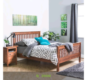 Portman queen size bed frame and 2 night stands