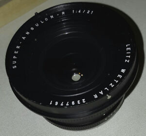 Leica Leitz 21mm f/4 21/4 Super-Angulon-R Lens