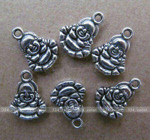 P069-20pcs-Tibetan-Silver-Charm-Double-sided-Buddha-Accessories-Wholesale