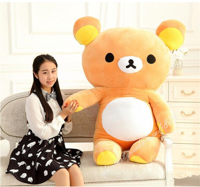 55cm San-x Rilakkuma Relax Bear Soft Pillow Plush Toy Stuffed Doll For Kids Gift
