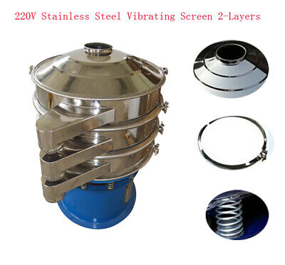 Usa Stock 220v Powered Stainless Vibrating Screen Round Screener Deck Low Noise