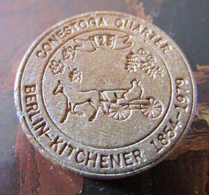 1854-1979 Berlin-Kitchener Wooden Conestoga Quarter Coin