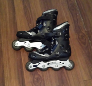 Patin roues allignees
