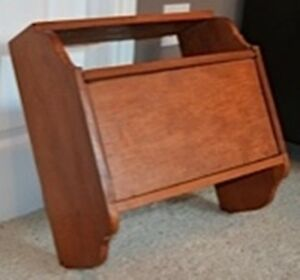 HC018 Antique Vtg Wall Mounted Wood Wooden Bread Box $55