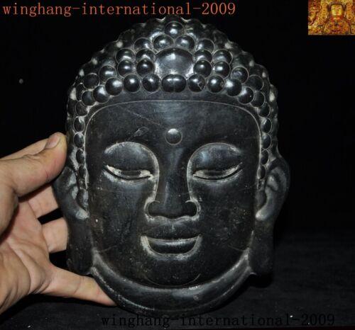 Rare China Hongshan Culture Old jade carved Sakyamuni Tathagata head mask statue