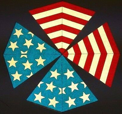 8 piece FULLY Reflective Fire Helmet American Flag Decal Triangles