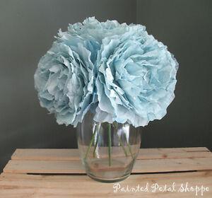 Blue Coffee Filter Peony Arrangement/Wedding Flowers
