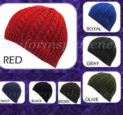 UNISEX MEN WOMEN Beanie Hat Cuffless Cable KNIT BEANIE Hats CAP KBW506 (Knitted Cuffless Cable Beanie)