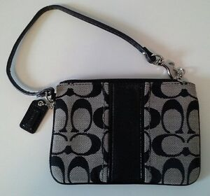 Coach Signature Fabric Wristlet small purse or wallet
