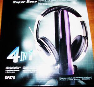 4-in-1 Super Boss Wireless Headphone Cambridge Kitchener Area image 1