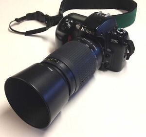 Nikon F60 with Nikkor 70-300mm AF lens