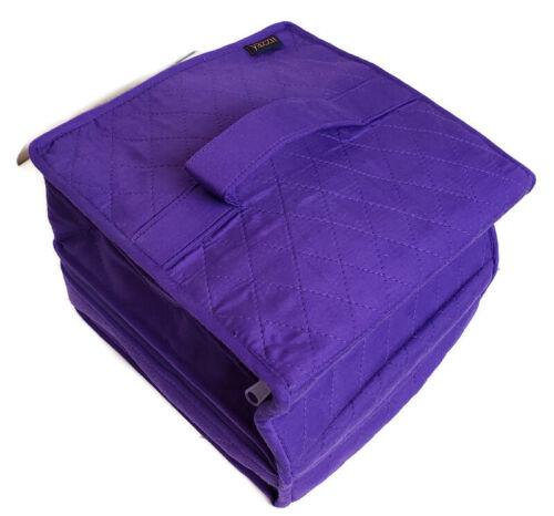 Yazzii Deluxe Double Organizer Purple Craft Storage Tote Bag