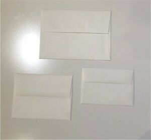 Shimmer White Envelopes - A7 - A2 - A1