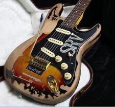 2NEW Top Quality Relic SRV Electric Guitar Eged Hardware Alder Body Sunburst
