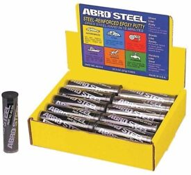 Abro Steel QuickSteel reinforced instant metal repair putty weld -57g