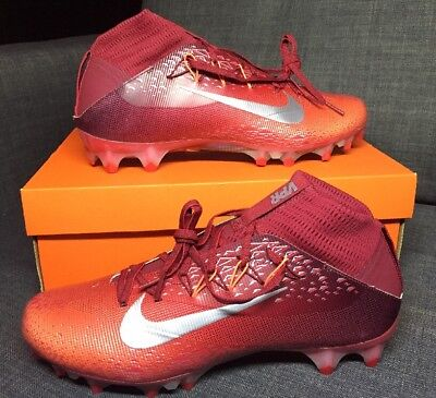 185956ba49a Nike Vapor Untouchable 2 Football Cleats Red Silver 824470-608 size 11