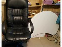 Black office chair and ikea desk