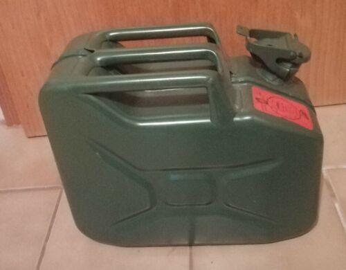 Kanister Stahlblech 10l grün neu