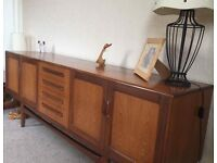 GPlan 1974 teak Fresco Retro dining table and sideboard