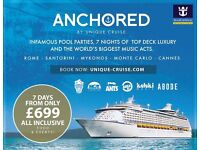 Under 25's Royal Caribbean cruise !!!! 4 tickets !!!