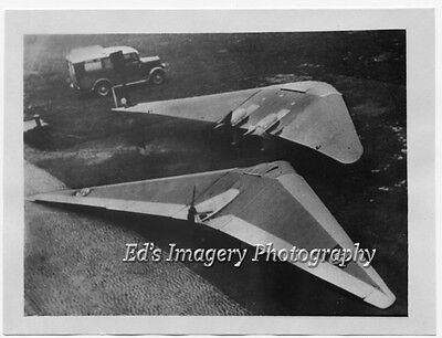 """UFO German """"Flying Wing"""" aircraft~ Real Photo!  Exceptionally Rare"""