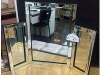 Mirror triple dressing table style freestanding