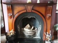 Fire surround and insert, incl bespoke guard