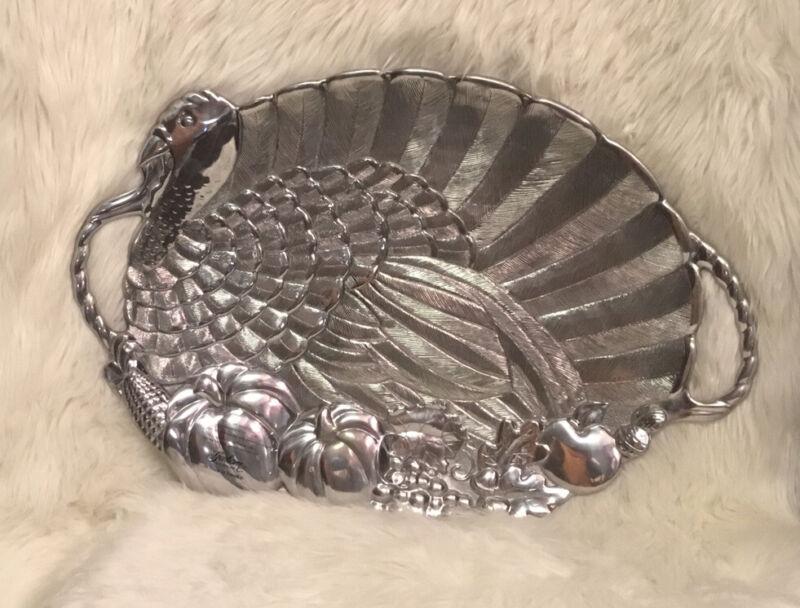 "Large Gorham Metal Alloy Serveware Turkey Platter, 24"" X 16"" NWOB"