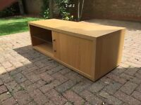 Wood low level sideboard/tv unit