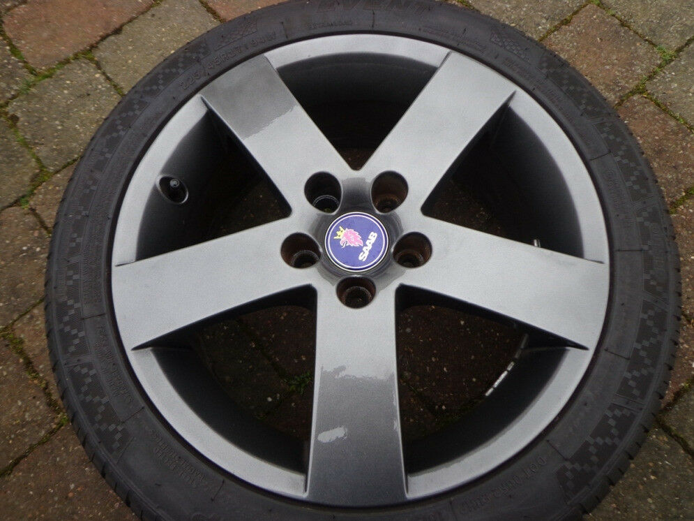 MINT Saab 9-5 Aero 5 spoke Evo Alloy Wheels 17