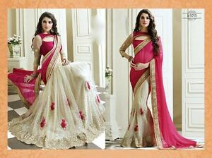 SARI INDIAN PAKISTANI DESIGNER BOLLYWOOD  SAREE FANCY NEW LOOK BRIDAL 2010