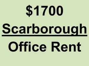 *** Scarborough - $1700 only - Commercial full office available for rent in professional building