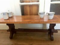 Vintage Oak Wood Coffee Table