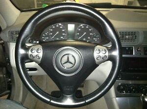 Mercedes benz c230 c320 sport multi function steering for Mercedes benz steering wheel cover