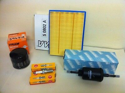 FOR Ford Fiesta 1.2 16v 03-08 Petrol Service Kit Air Oil Fuel Filter NGK Plugs