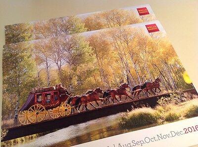 2 X New Wells Fargo Bank 2016 Wall 12 Month Calendar 11X14 Stagecoach Horses New