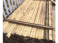 2.4mtr pressure treated 2x2 £2.50each