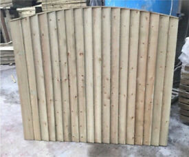 🦔Bow Top Timber Fence Panels /Pressure Treated