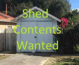 WANTED Old Shed Contents  - Cash Paid now Morley Bayswater Area Preview
