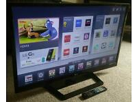 "LG 42"" Slim LED FULL HD SMART TV WITH BUILT IN WiFi, FREEVIEW HD, 4X HDMI, NEW CONDITION FULLY WORKN"