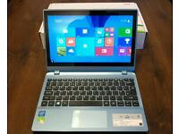 Acer Aspire V5 compact touchscreen laptop in ice blue + extras