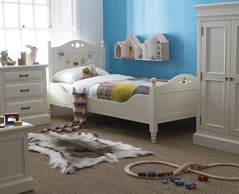 Also New for 2016,  we have a delightful Children's  bed, along with smaller bedside tables and a single wardrobe