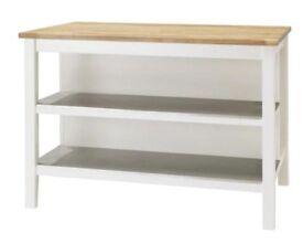 Ikea Kitchen island STENSTORP White/oak