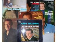 A COLLECTION OF ANDY WILLIAMS LP'S . VISUALLY IN VG CONDITION